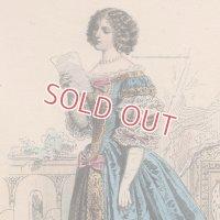 1800年代、フランス、ファッションプレート 銅版画  コスチュームヒストリー