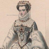 1800年代、フランス、ファッションプレート 銅版画  シャルル9世時代ファッション