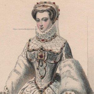 画像1: 1800年代、フランス、ファッションプレート 銅版画  シャルル9世時代ファッション
