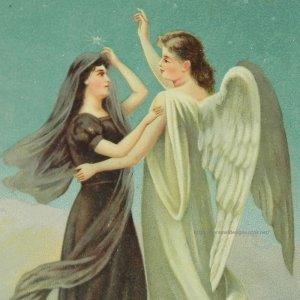 画像1: アンティークカード 天使