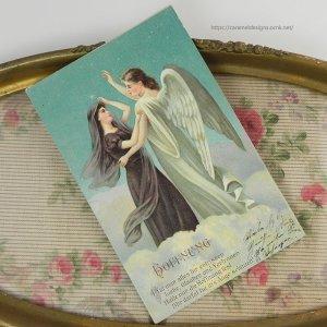 画像2: アンティークカード 天使