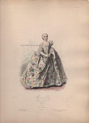 画像3: 1800年代、フランス、ファッションプレート 銅版画  ルイ15世時代のパリモード