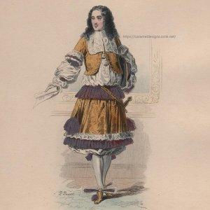 画像2: 1800年代、フランス、ファッションプレート 銅版画  ルイ14世時代、貴公子