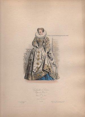 画像3: 1800年代、フランス、ファッションプレート 銅版画  アンリ4世時代