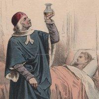 1800年代、フランス、ファッションプレート 銅版画  シャルル8世時代 医師