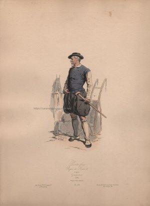 画像3: 1800年代、フランス、ファッションプレート 銅版画  アンリ三世時代