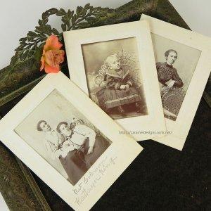 画像1: 1800年代、ヴィクトリアン・フォト3枚