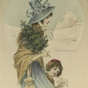 画像1: ヴィエノワーズ、宿り木とモミの木