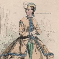 1800年代、フランス、ファッションプレート 銅版画  フランス帝国時代