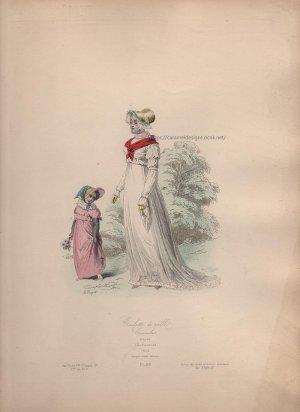 画像3: 1800年代、フランス、ファッションプレート 銅版画  フランス帝国時代