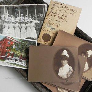 画像1: WWI・1918年 従軍看護婦たちの写真/寄せ書き/ポストカード全38枚