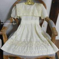 ヴィンテージ・クリームカラー・チャイルドドレス