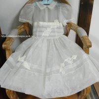 ヴィンテージ・オーガンジー・チャイルドドレス