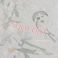 【未完成】ハンドメイドの素材に♪ アンティークリネン・刺繍&図柄付 1m10cmx62cm