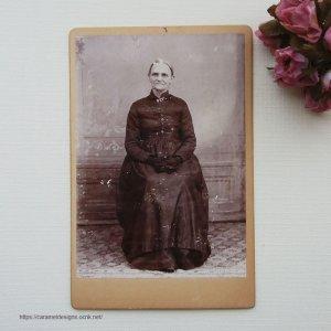 画像1: ヴィクトリアン、アンティークフォト 老女