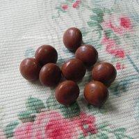 ヴィクトリアン・チャイルドブーツボタン(Brown)9個分