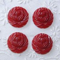 大きな赤いお花ボタン
