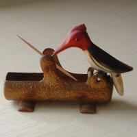 アイアン製 ウッドペッカーの楊枝ホルダー