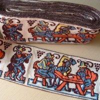 刺繍入りトリム 幅8.2cmx長さ70cm(在庫最終分)