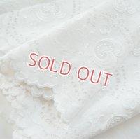 白刺繍エンブロイダリー・ローンファブリック 2m15cmx1m10cm