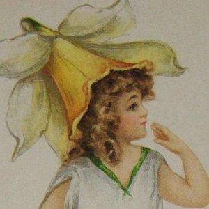 画像1: アンティークカード フェアリー