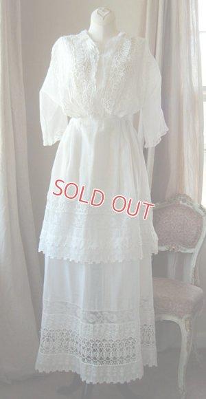 画像1: エドワディアン、ホワイトドレス