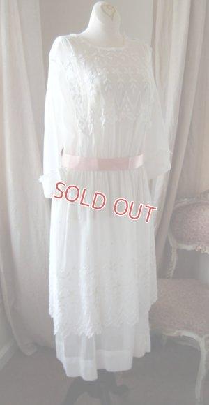 画像2: エドワディアン、ホワイトドレス
